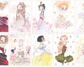 10 queens pop surrealism Dior Chanel Mcqueen art prints Fashion Girlfriends