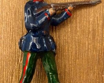 Soldier early twentieth century brooch