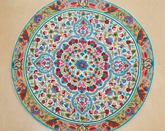 5 Ft Round, Mandala Rug, Floral Area Rugs, Cool Rugs, Circular Rugs