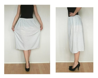 Silver skirt - knee length skirt, sparkles