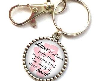 Dance Teacher Gifts, Ballet Teacher Gift, Gift for Dancer, Dance Recital Gift, Gift for Dance Teacher, Key Chain