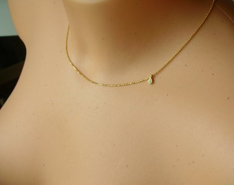 Delicate necklace - gold essence 925 silver plated