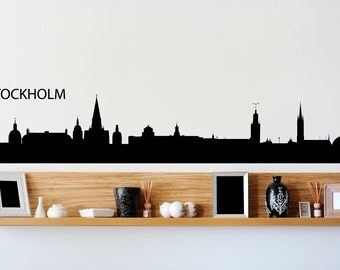 Stockholm Sweden City Skyline Wall Decal