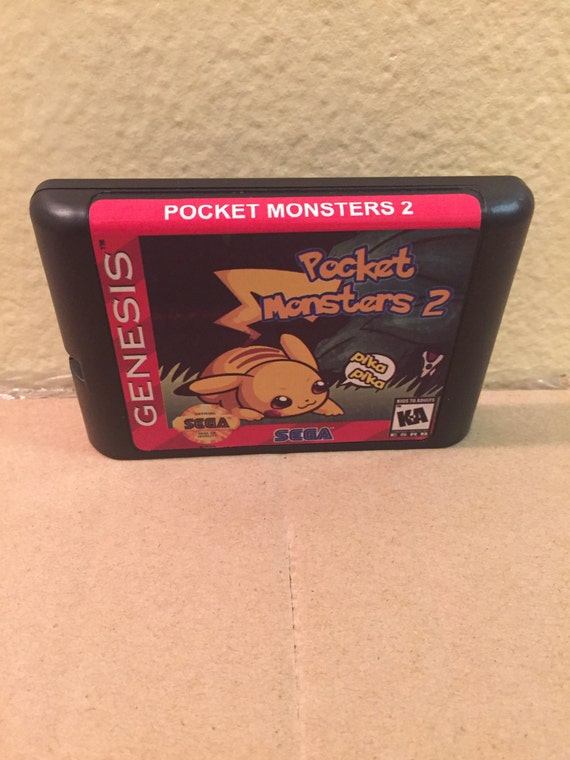 Pocket Monsters 2 Fan Made Custom Sega Genesis Game 16bit Ii