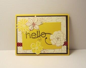 Flower Hello Card