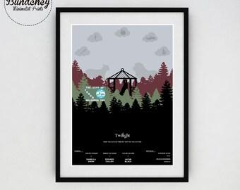 TWILIGHT - The Twilight Saga - Minimalist Movie Poster