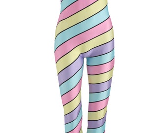 CANDY STRIPES unitard catsuit jumpsuit romper top womens ladies girls top tumblr hipster grunge retro vtg boho swag color cute goth pastel