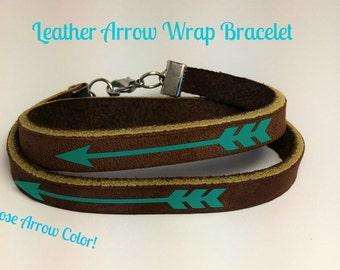 Leather Arrow Wrap Bracelet | Leather Bracelet | Arrow Bracelet | Leather Wrap | Leather Wrap Bracelet