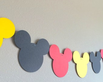 Sale!!! Mickey Mouse Banner, Red Black Yellow, Mickey Mouse Clubhouse Birthday Party Banner