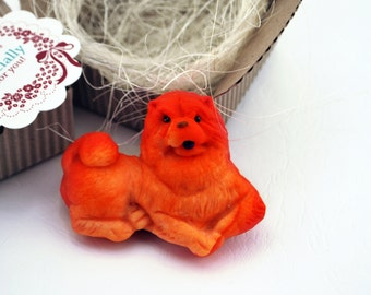 Chow chow, Chow chow magnet, Chow chow sculpture, Pet magnet, Funny Chow chow, Gift box, Dog magnet