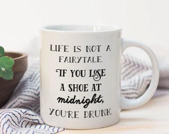 Big Mug 15oz - Drunk at Midnight big coffee mugs, big coffee mug, funny coffee mugs, gift for her, sarcastic coffee mug
