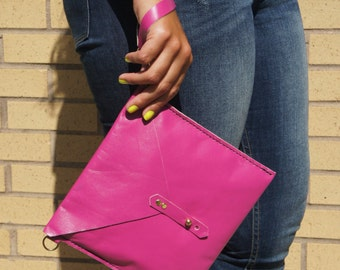 Pink Envelope Clutch | Envelope Clutch
