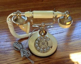 Vintage phone, vintage rotary phone, princess phone