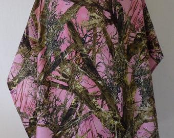 Nursing cover, Pink True Timber MC2 Camo print , cotton breastfeeding cover up apron