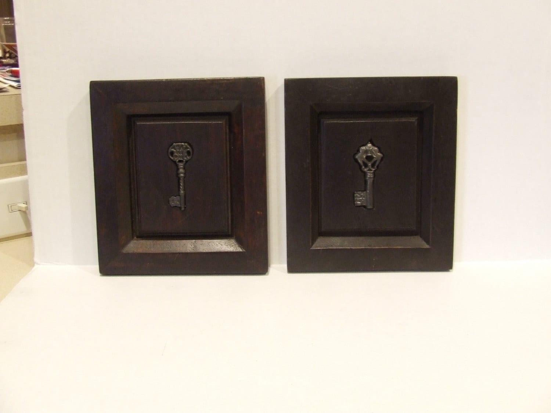 Vintage keys wall decor keys framed keys vintage keys for Keys decorating walls