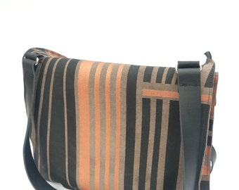 Dutch design handprinted upcycle hand-shoulderbag