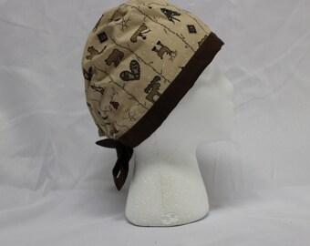 Primitive Northern Americana Moose Surgical Scrub Cap Chemo Hat