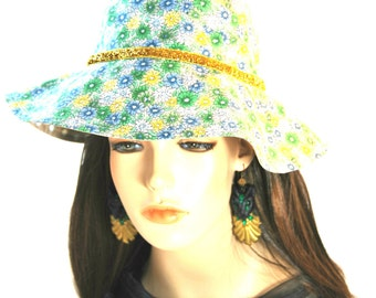Girl's Daisy Sunhat with Gold Band