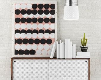Polka dots print, Dots print, Dots poster, Home Decor, Scandinavian Prints, Wall Print, Minimalist Art, Wall Decor, Modern Wall Art.