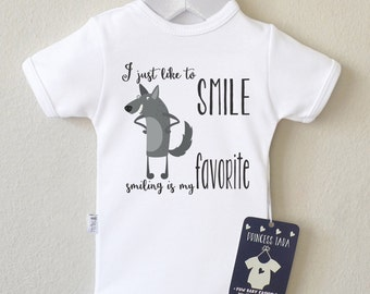 Funny Baby Clothes. Wolf Baby Bodysuit. Cute Baby Romper. Animal Baby Clothes. Unique Baby Shirt. Hipster Baby Clothes. Choose Your Color.