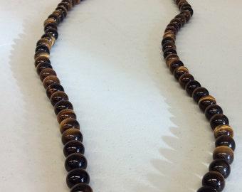 """Vintage Tiger Eye 35"""" Necklace"""