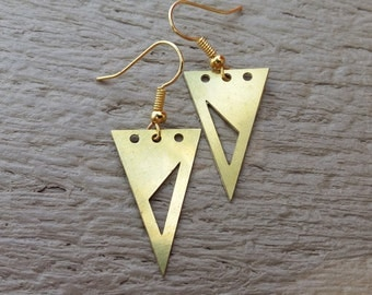 Contemporary triangle earrings