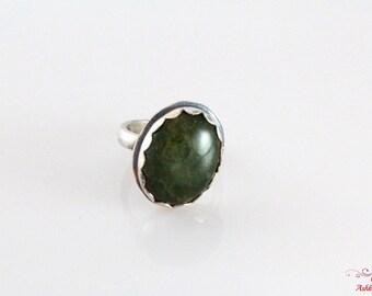 Handmade Agate Jemstone Ring In Sterling Silver