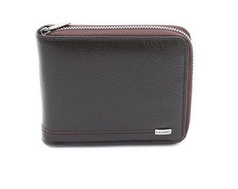 Zip Wallet - All Around Zip Wallet - Dark Brown