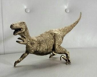Jumbo Metallic Gold Velociraptor