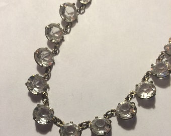 Vintage Sterling and Crystal Necklace