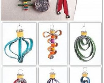 "Zipper Art Pin PATTERN ""My Christmas Zips"""