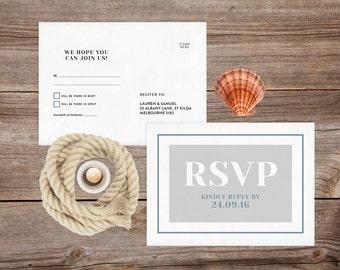 Wedding rsvp postcard, Printable rsvp cards, RSVP Wedding rsvp cards, Wedding stationery, Wedding postcard, Rustic wedding stationery