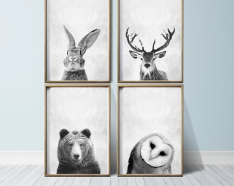 Nursery Wall Art Woodland Nursery Decor Nursery Art Prints Nursery Prints Set Nursery Woodland Animals