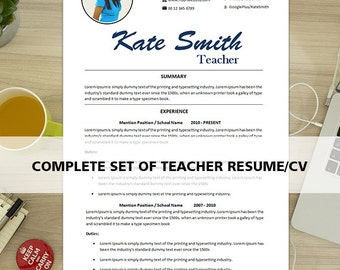 Resume Template Instant Download Teacher Resume Page Resume Page Resume  Cover Letter Infographic Resume Free Resume