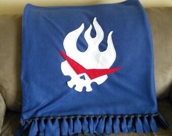 Gurren Lagann Logo Fleece Blanket