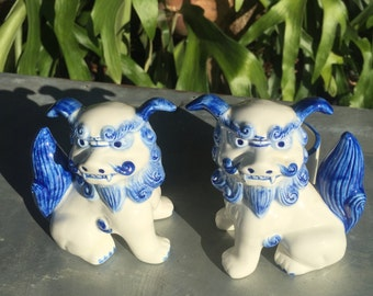 Horchow Foo Dog Candle Holders