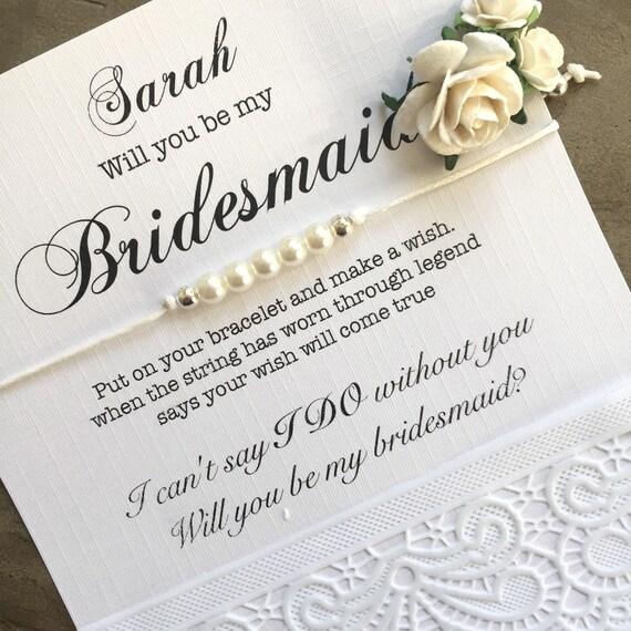 Bridesmaid pearl bracelet