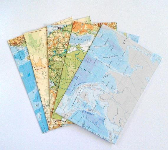 Snail Mail Mail Art Map Envelopes Paper Supplies