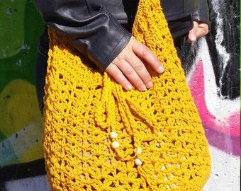 Crochet Tote Bag, Crochet Boho Style Bag, Crochet Summer handbag, Tote Bag, Crochet Boho Handbag, Crochet Purse, Crochet Beach Handbag, Bag