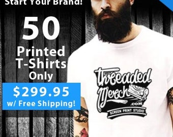 50 Custom Screen Printed T Shirts