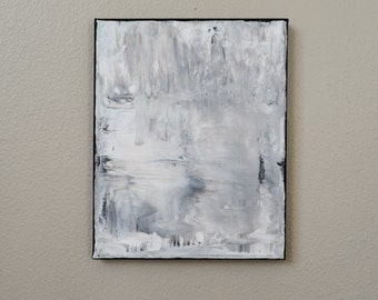 White and Grey Abstract
