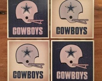 Dallas Cowboys Retro Helmet Coasters