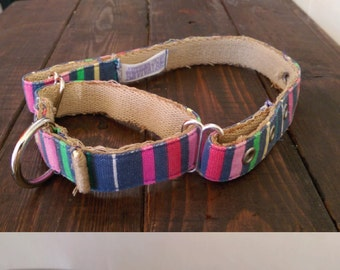 Stripped Canvas Belt Slip Collar