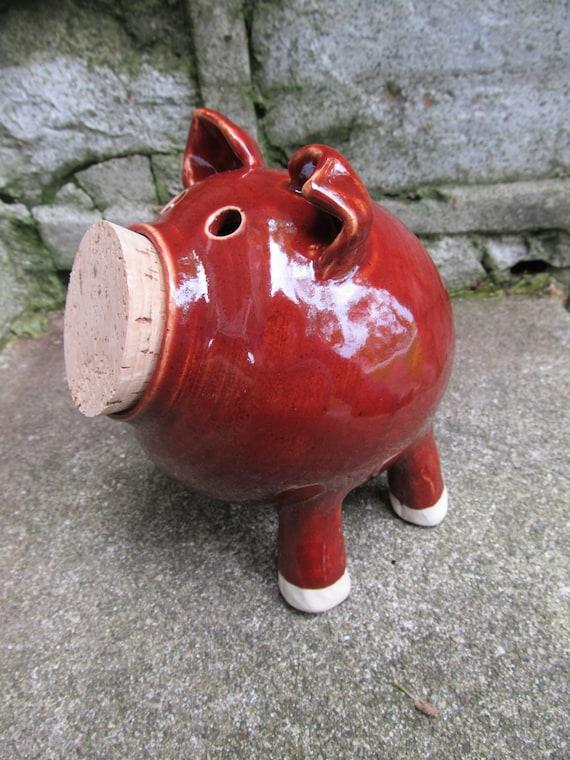 Ceramic piggy bank pottery piggy bank handmade piggy bank for Handmade coin bank