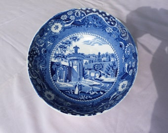 W. R. Midwinter blue and white transferware Fruit or Serving Bowl. English transfer ware.