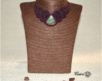Ruby in Zoisite Cesira collar... •••ref.r1001•••
