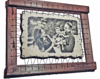 Newborn Photo Engraved On The Genuine Leather