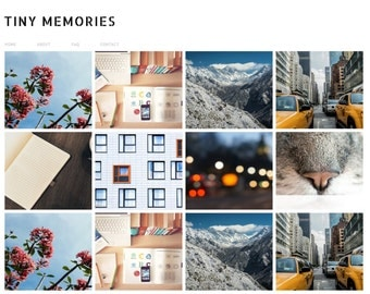 "Blogger Template ""Tiny Memories"" // Instant Digital Download Premade Blog Theme Design"