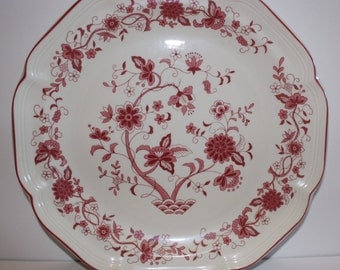 Serving Plate and Bowl w/ Flower Pattern