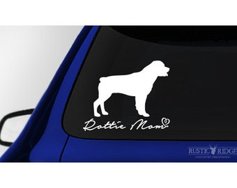 Rottie Mom, Rottweiler Dog Car Window Decal Sticker